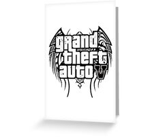 Gta V Logo Greeting Card