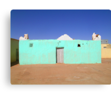 Beautiful Algeria - Turquoise Building Canvas Print