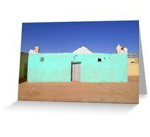 Beautiful Algeria - Turquoise Building Greeting Card