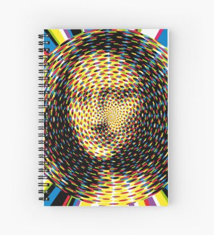 Psychedelic Mona Lisa Spiral Notebook