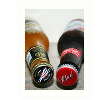 Millers and Bud! Art Print