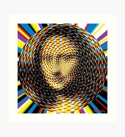 Psychedelic Mona Lisa Art Print