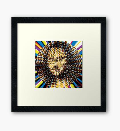 Psychedelic Mona Lisa Framed Print