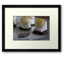 Marshmallow Hats Framed Print