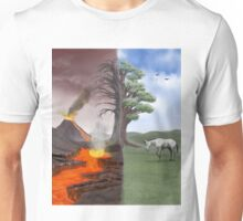 Two Scenes In One Unisex T-Shirt