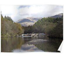 River Awe, Dalmally, Argyll Poster