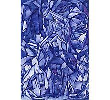 blue composition Photographic Print