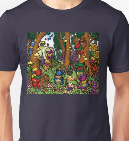 Grateful Dead Dancing Bears - Teddy Bear Picnic Unisex T-Shirt