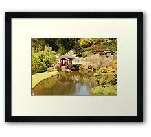 The Japanese Covered Bridge Framed Print