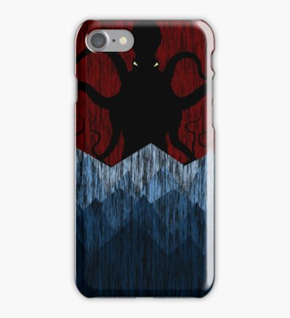 Cthulhu's sea of madness - Red iPhone Case/Skin