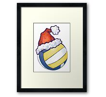 Volleyball Christmas Framed Print