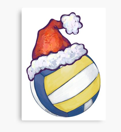 Volleyball Christmas Canvas Print
