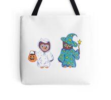Trick or Treating Halloween Cartoon Owls Tote Bag