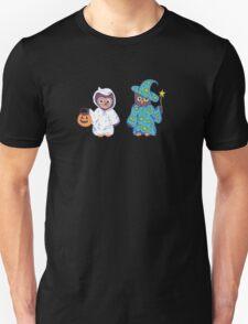 Trick or Treating Halloween Cartoon Owls T-Shirt