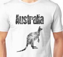Faded Australian Kangaroo Unisex T-Shirt