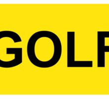 """GOLF"" STICKER OFFICIAL COPY Sticker"