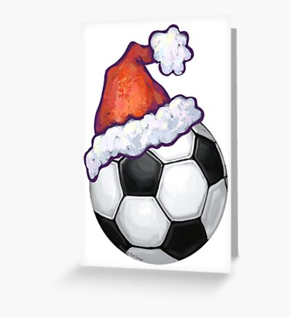 Soccer Ball Christmas Greeting Card