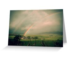 House at the end of the rainbow Greeting Card