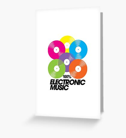 100% Electronic Music Greeting Card