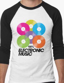 100% Electronic Music Men's Baseball ¾ T-Shirt