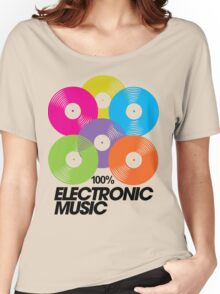 100% Electronic Music Women's Relaxed Fit T-Shirt