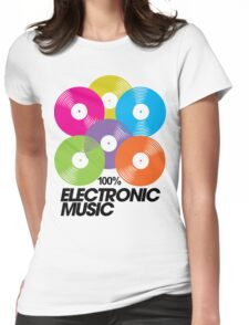 100% Electronic Music Womens Fitted T-Shirt
