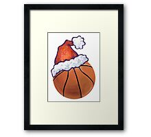 Basketball Christmas Framed Print