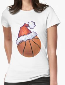 Basketball Christmas Womens Fitted T-Shirt