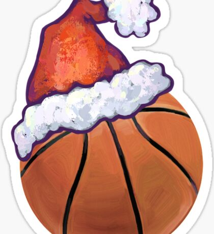 Basketball Christmas Sticker