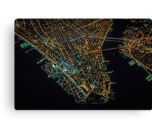 New York City At Night Pt 1 Canvas Print