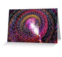 Light Vortex Greeting Card