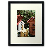 Bird houses Framed Print