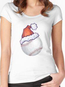 Baseball Christmas Women's Fitted Scoop T-Shirt