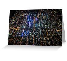 New York City At Night Pt 9 Greeting Card
