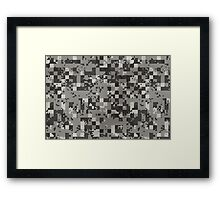 Cube Camo - Full  Framed Print