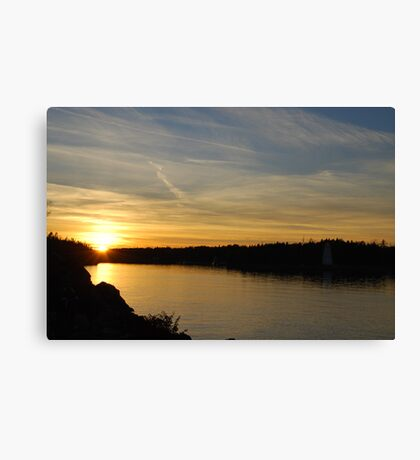 Sunset in Tobermory Canvas Print