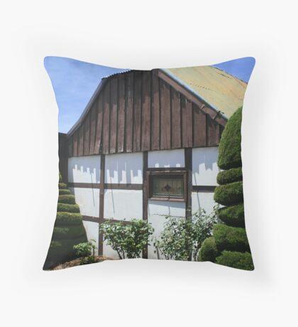 Traditional German Settler's House Throw Pillow