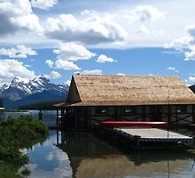 canoeing at Maligne Lake by belle101