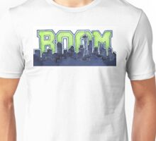 Seattle Skyline 12th Man Legion of Boom Painting Unisex T-Shirt