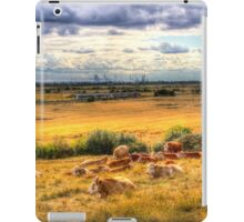 Cows And A Passing Train iPad Case/Skin