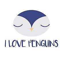 The penguin who says I love penguins by Pentiuc Roxana