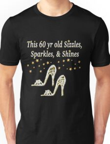 SPARKLING 60TH BIRTHDAY SHOE QUEEN Unisex T-Shirt