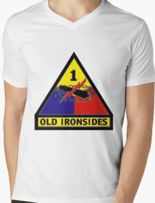 First Armored Division Logo Mens V-Neck T-Shirt