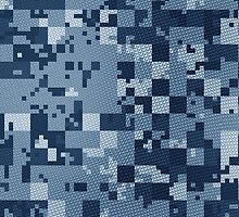 Cube Camo - Blue by cpinteractive