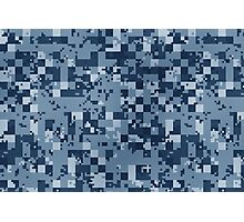 Cube Camo - Blue Photographic Print