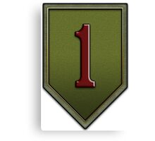 1st Infantry Division Logo - United States Army Canvas Print