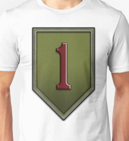 1st Infantry Division Logo - United States Army Unisex T-Shirt