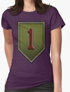 1st Infantry Division Logo - United States Army Womens Fitted T-Shirt