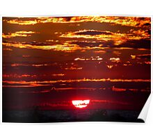 Jeweled Sunset Poster