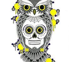 Sugar Skull Owl by rich banks